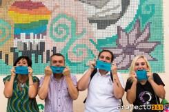 Promoción al uso de protección para tener sexo seguro mediante el uso de barreras de latex. Fotografía: © Ana Isla, proyecto341.com reservados todos los derechos / all rights reserved
