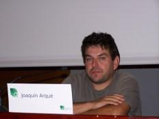 Joaquín Arqué, agricultor ecológico de Fraga (Huesca), en las Jornadas Agros