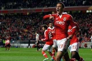 Rodrigo celebra el empate del Benfica