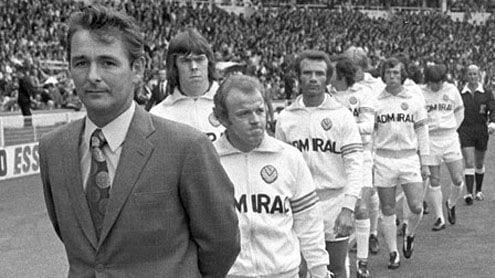 Brian Clough en su etapa en el Leeds United