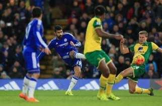 Diego Costa da los tres puntos al Chelsea ante el Norwich