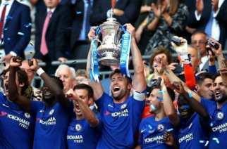 Hazard y Courtois le dan la FA Cup al Chelsea
