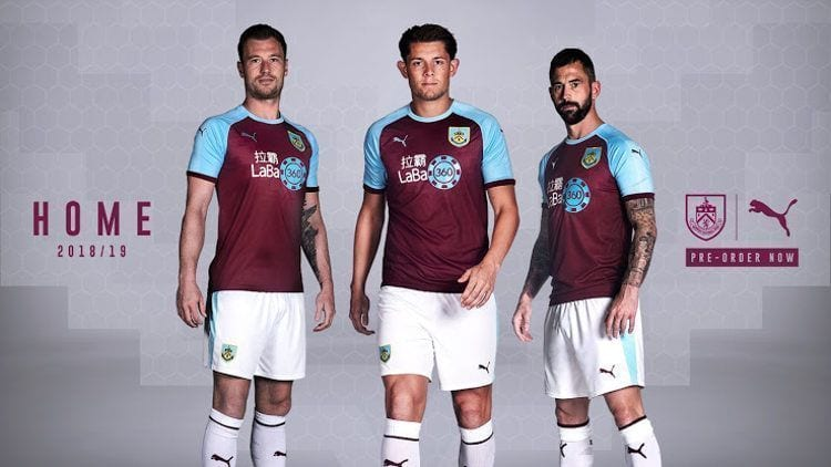 Burnley Kit Camiseta Jersey 2018-19
