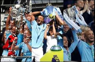 Inglaterra se tiñe de azul con el primer triplete del City
