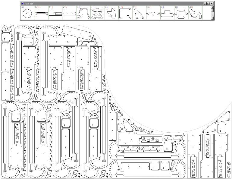 Qué es el anidado de piezas en una plancha de chapa