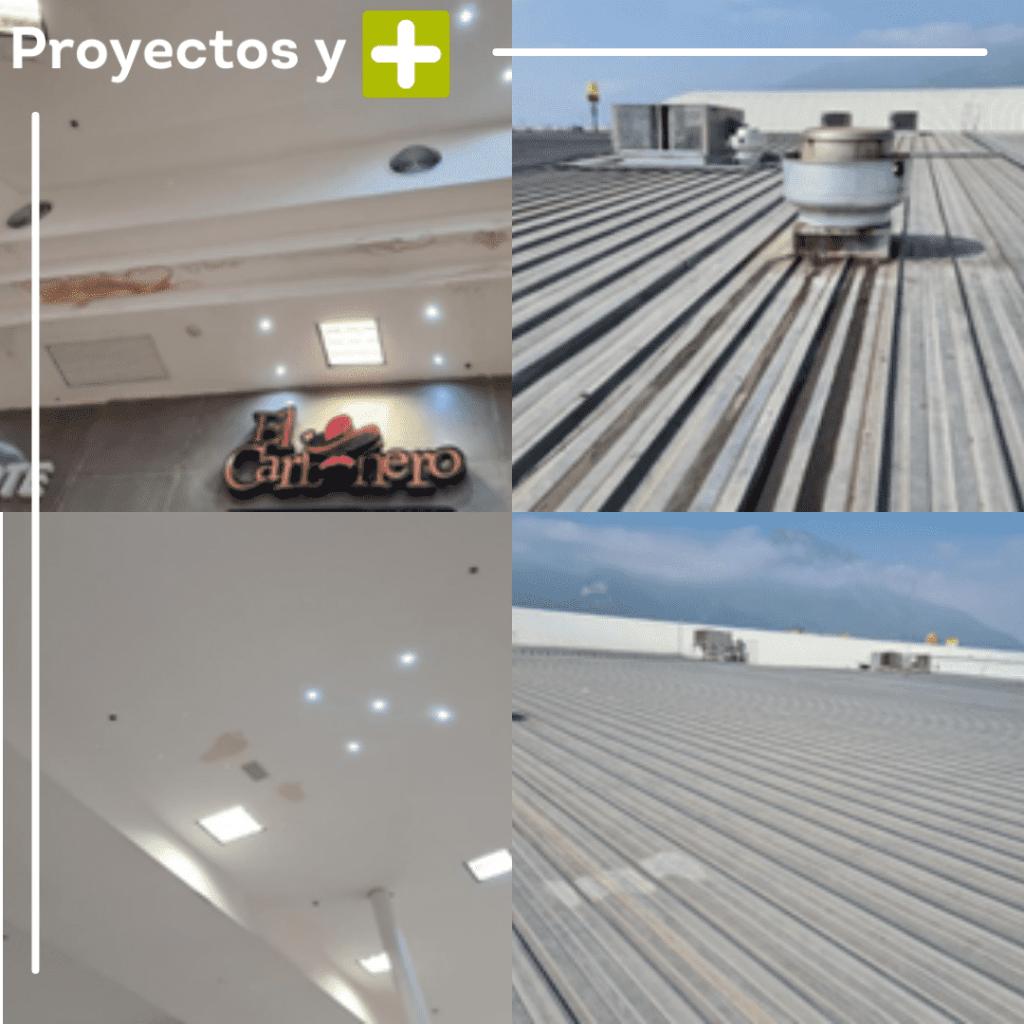 Inspeccion de cubiertas con equipos de aire acondicionado