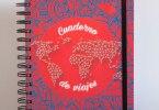 cuaderno de viajes rojo