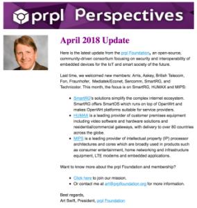 prpl Perspectives April Newsletter - Screenshot Campaign