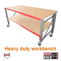 Heavy Duty Work Bench (Dexion) with wheels