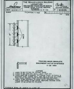 F433291A FrameShoeWeldingDiagram 19450613