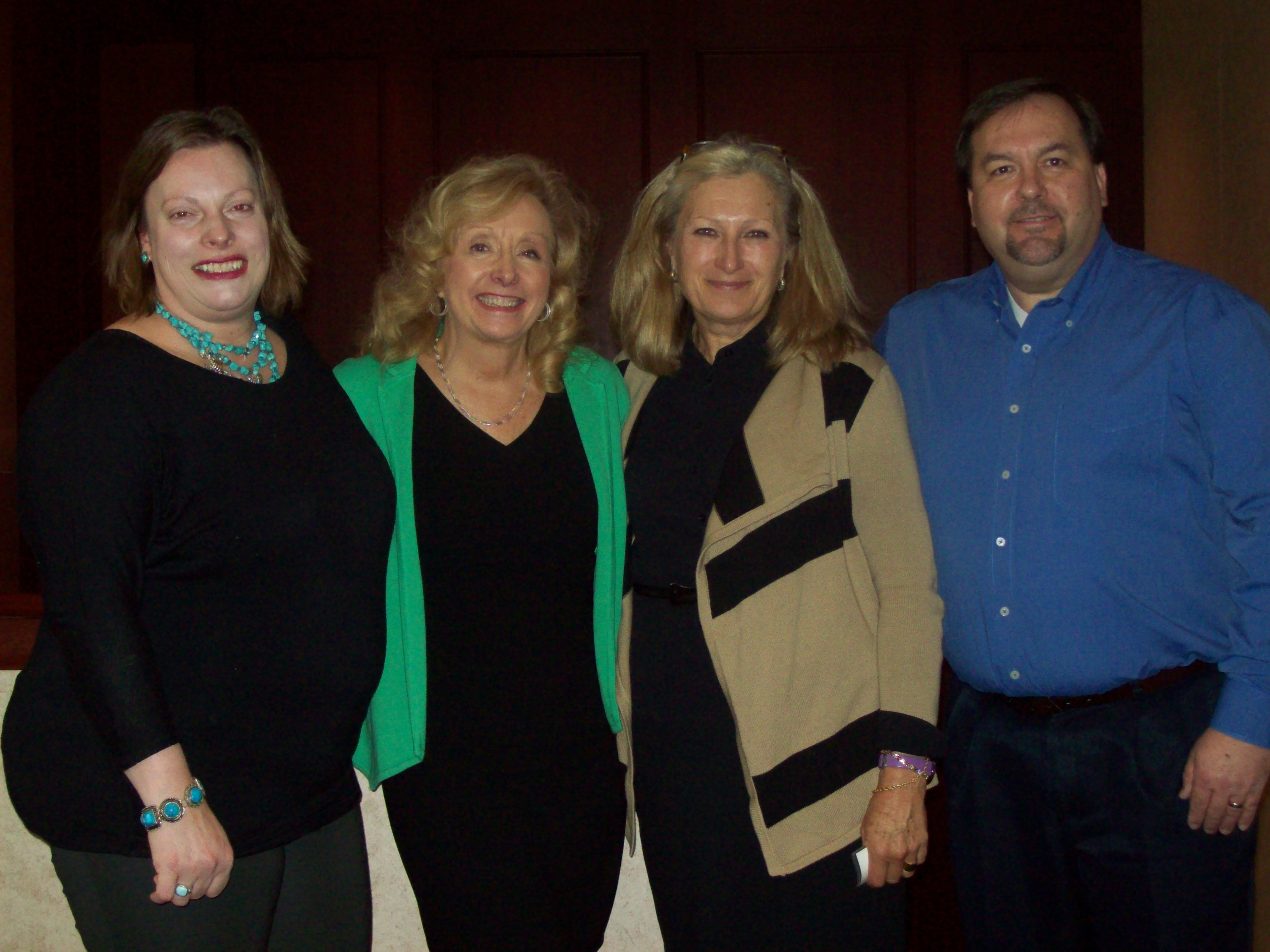 District Officers,  Treasurer Laura LaChapelle, Chair Liz Smith, Secretary Christie Phillips, Chair-Elect Kevin Gaydosh at Quick Start 2015