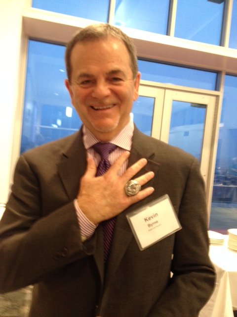 Kevin Byrne with Super Bowl Ring