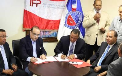 Instituto de Formación Política y la Universidad Autónoma de Santo Domingo Firman convenio de cooperación interinstitucional