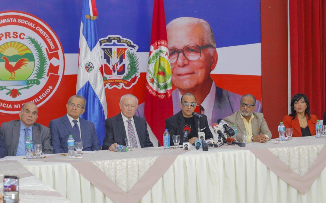 """En rueda de prensa en PRSC: Oposición dice JCE se descalifica como  árbitro imparcial  con decisión """"ilegal y arbitraria"""" de despojar al PRSC casilla 3"""
