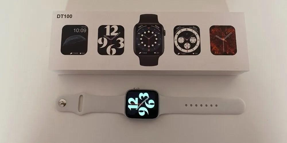 Smartwatch DT100 Blanco con su Empaque