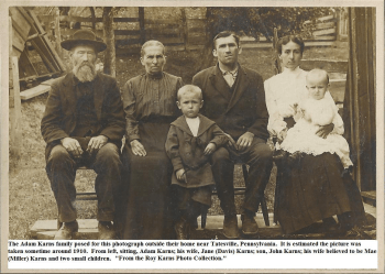John M Karns and family circa 1910 - FindAGrave.com