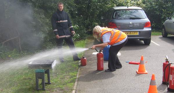 Care Home Live Fire Extinguisher Training