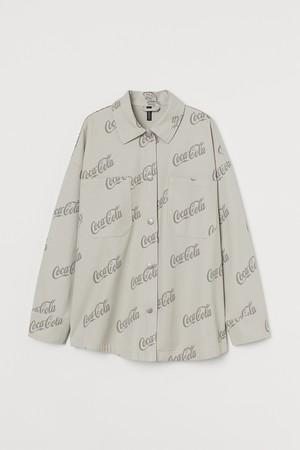 プリントツイルシャツジャケット¥3,999