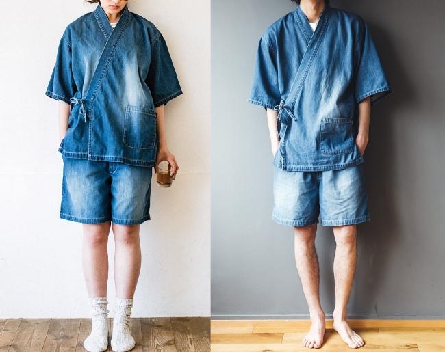 モデル身長左167cm:1サイズを着用、 右181cm:2サイズを着用