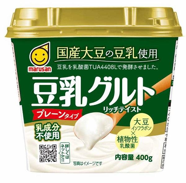 豆乳を植物性乳酸菌で発酵させたはっ酵豆乳食品「國産大豆の豆乳使用 豆乳グルト」(400g)新発売 ...