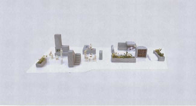篠原明理 「昭島の住宅」 模型 ©️篠原明理建築設計事務所/m-sa
