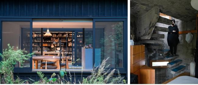 左)堀部安嗣 「我孫子の家」 ©️瀬尾憲司  右)東孝光 「塔の家」 ©️瀬尾憲司