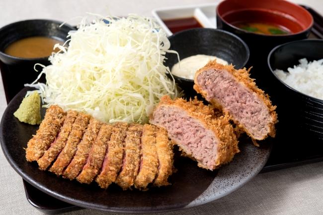 牛カツとメンチカツの相盛り膳:1,580円(+税)
