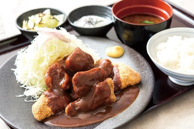 ひとくちデミグラス牛カツ膳: 1,180円(+税)