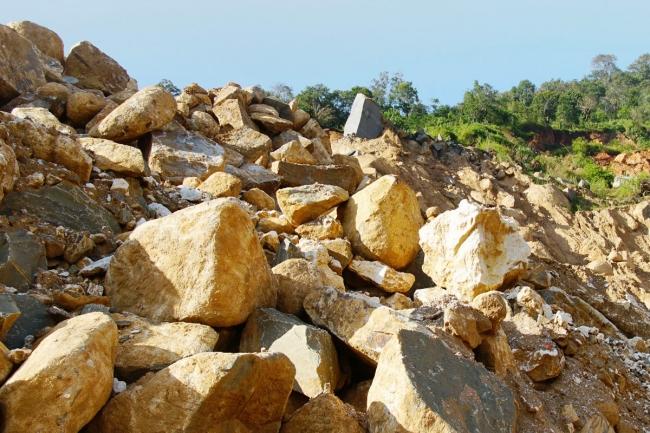 モゴックにある、 ルビー鉱山