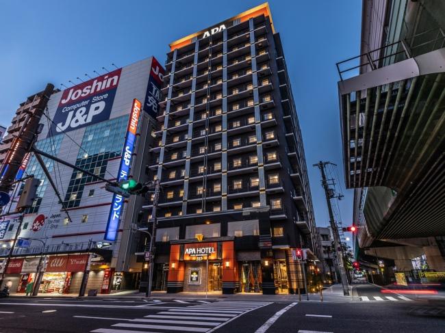 アパホテル〈なんば南 恵美須町駅〉外観②