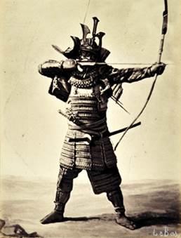 アポリネール ル バ 《日本の武者》 1864年、鶏卵紙 (C) MNAAG.