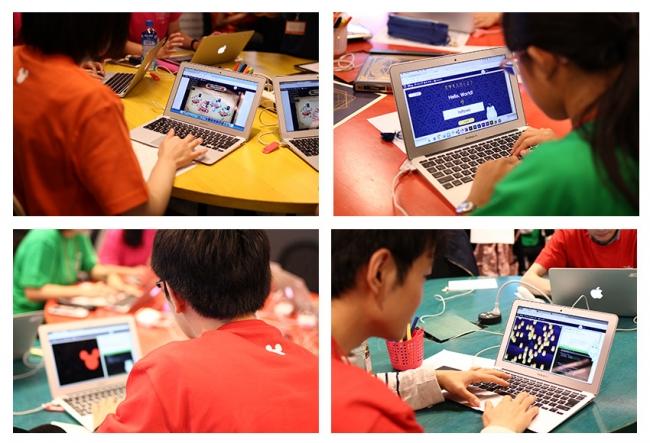 体験会でテクノロジア魔法学校に取り組む学生ユーザーの様子