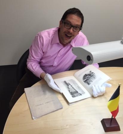 ダイヤモンドカット史上初の謎の365面カットにまつわる国宝級の14世紀初頭の重要文献を解析する代表取締役役社長サイモン・グランバーガー