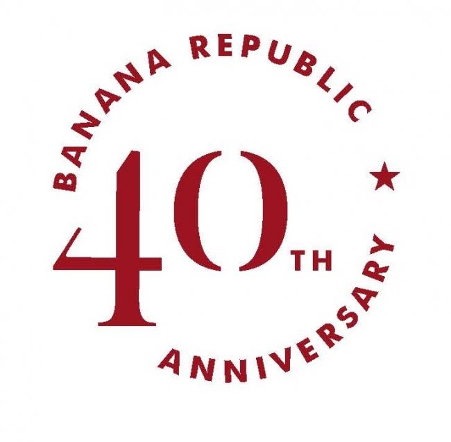 バナナ・リパブリック40周年アニバーサリーロゴ