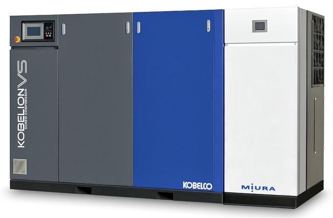 ▲熱回収式電動エアコンプレッサ「VA-1440CO」