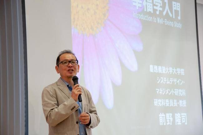 第1回講座でも講座を行なった前野隆司氏(第1回講座での様子)