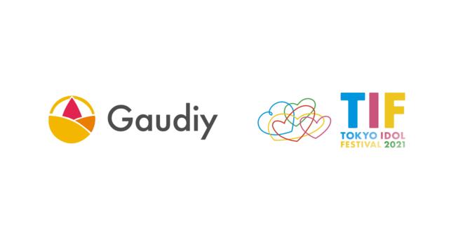 株式会社GaudiyとTOKYO IDOL FESTIVAL 2021のロゴ