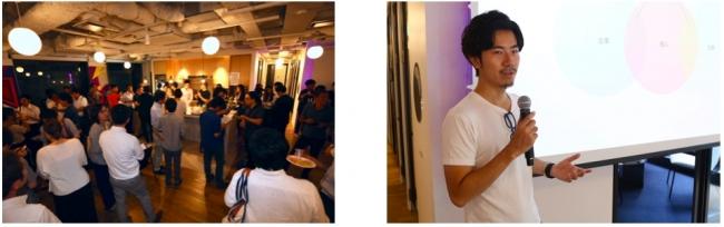<120名を越えるイベント参加者の様子>          <CACTAS代表取締役青木英佑登壇の様子>