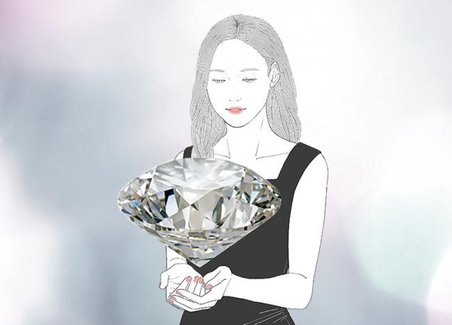 「ダイヤモンドの純粋さ」を追求し、 「身に纏う幸せ」を思い描いて、 「ともに生きていくジュエリー」を。
