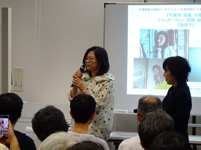 「金馬電影学院」での映画制作について語る姜秀瓊監督