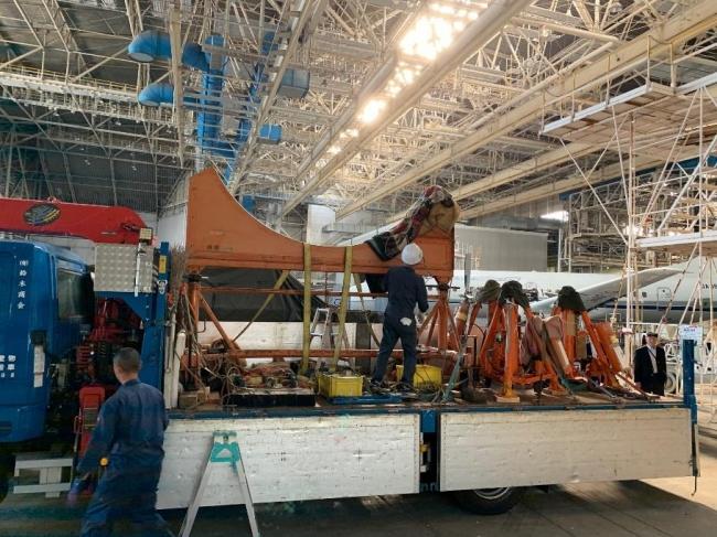2019年10月30日 航空自衛隊機材搬入 国立科学博物館