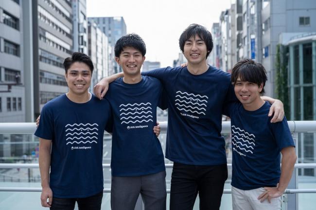左から:サイバーエージェントキャピタル 大村氏、AVA Intelligence 宮崎・小峰、インキュベイトファンド 種市氏