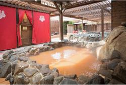 有馬温泉 太閤の湯 金泉源泉かけ流し「太閤の岩風呂」