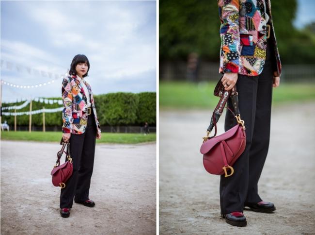 ハンナ・チャンは「サドル」バッグを携えて