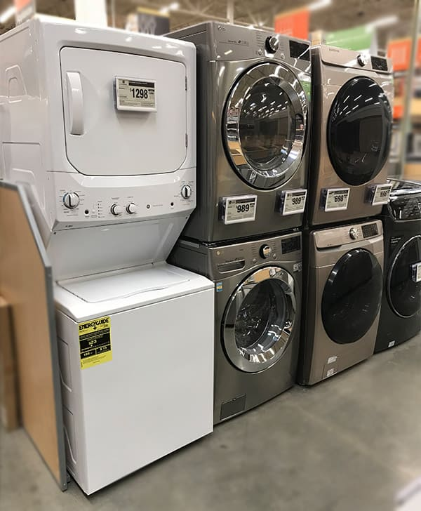 Washer Pan Lowes : washer, lowes, Stackable, Washer, Dryer, Dimensions, Examples), Prudent, Reviews