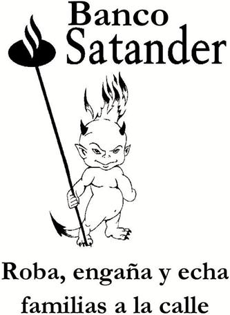 Para Halloween, truco o trato de la PAH al Banco Santander