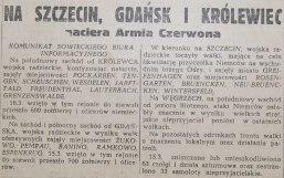 Rzeczpospolita nr 72 (sobota), 17.03.1945.