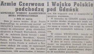 Rzeczpospolita nr 77 (czwartek), 22.03.1945.