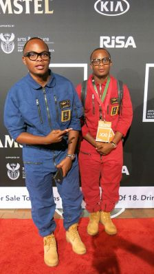 Major League twins at the XXI South African Music Awards. Picture CREDIT: Kgothatso Madisa