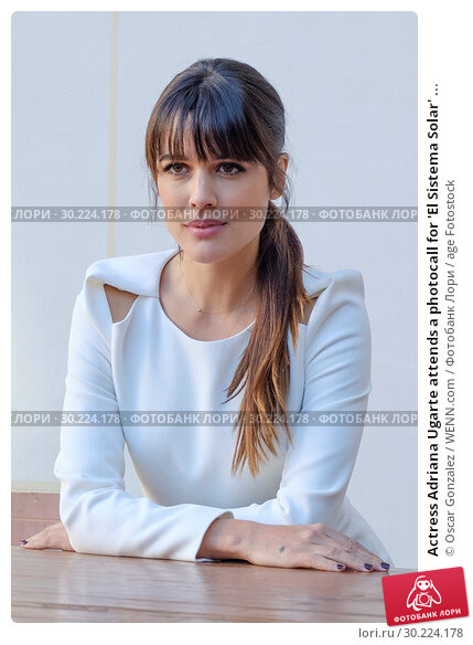 Actress Adriana Ugarte attends a photocall for 'El Sistema Solar' in